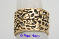 Gold Band, flowers & leaves